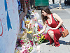 Floral Tributes and messages left outside the Finsbury Park Mosque, Finsbury Park, London, Great Britain <br /> 20th June 2017 <br /> <br /> following a terror attack outside  the Muslim Welfare House of Seven Sisters Road early hours of 19th June 2017 <br /> <br /> Photograph by Elliott Franks <br /> Image licensed to Elliott Franks Photography Services