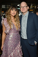 """NEW YORK - MARCH 19: (L-R) Actress Natasia Demetriou and Mark Proksch attend the party at the Bowery Hotel Terrace following the premiere for FX Networks """"What We Do In The Shadows"""" on March 19, 2019 in New York City. (Photo by Anthony Behar/FX/PictureGroup)"""