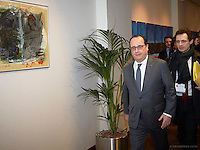 Pictured: Francois Hollande Friday 19 February 2016<br /> Re: European Union summit in Brussels, Belgium.