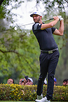 Dustin Johnson (USA) watches his drive on 18 during round 3 of the World Golf Championships, Mexico, Club De Golf Chapultepec, Mexico City, Mexico. 3/4/2017.<br /> Picture: Golffile | Ken Murray<br /> <br /> <br /> All photo usage must carry mandatory copyright credit (&copy; Golffile | Ken Murray)