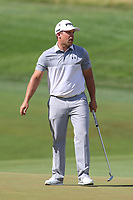 Bethesda, MD - July 1, 2017:  Daniel Summerhays reacts after making his putt during Round 3 of professional play at the Quicken Loans National Tournament at TPC Potomac in Bethesda, MD, July 1, 2017.  (Photo by Elliott Brown/Media Images International)