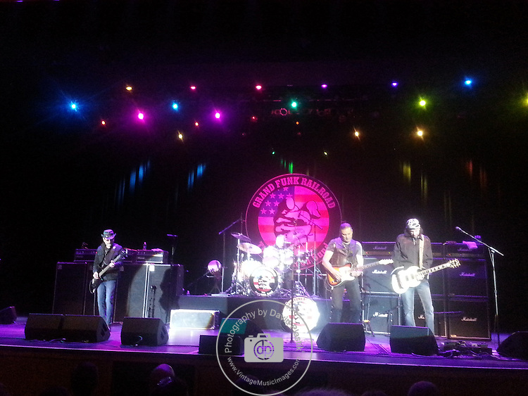 Grand Funk Railroad performing live at Orleans Casino April 20, 2013. 	Don Brewer,Mel Schacher,<br />
