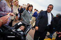 NJ's governor Chris Christie visited the Jersey shore's reconstruction, marking the second anniversary of Sandy storm in New Jersey. 10.29.2014. Eduardo MunozAlvarez/VIEWpress