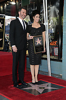 LOS ANGELES - NOV 9:  Jimmy Kimmel, Sarah Silverman at the Sarah Silverman Star Ceremony on the Hollywood Walk of Fame on November 9, 2018 in Los Angeles, CA