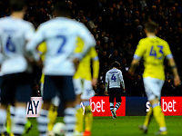Preston North End's Ben Pearson leaves the field after receiving a red card<br /> <br /> Photographer Alex Dodd/CameraSport<br /> <br /> The EFL Sky Bet Championship - Preston North End v Leeds United -Tuesday 9th April 2019 - Deepdale Stadium - Preston<br /> <br /> World Copyright &copy; 2019 CameraSport. All rights reserved. 43 Linden Ave. Countesthorpe. Leicester. England. LE8 5PG - Tel: +44 (0) 116 277 4147 - admin@camerasport.com - www.camerasport.com