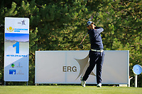 Jos&eacute;-Filipe Lima (POR) during the first round of the Kazakhstan Open presented by ERG played at Zhailjau Golf Resort, Almaty, Kazakhstan. 13/09/2018<br /> Picture: Golffile | Phil Inglis<br /> <br /> All photo usage must carry mandatory copyright credit (&copy; Golffile | Phil Inglis)