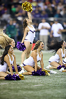 SEATTLE, WA - SEPTEMBER 16:  Washington cheerleader Lexi Nunes entertained fans during the football game between the Washington Huskies and the Fresno State Bulldogs on September 16, 2017 at Husky Stadium in Seattle, WA. Washington won 63-7 over Montana.