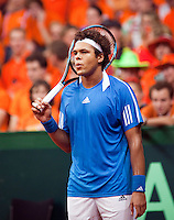 18-9-09, Netherlands,  Maastricht, Tennis, Daviscup Netherlands-France,  Jo-Winfried Tsonga