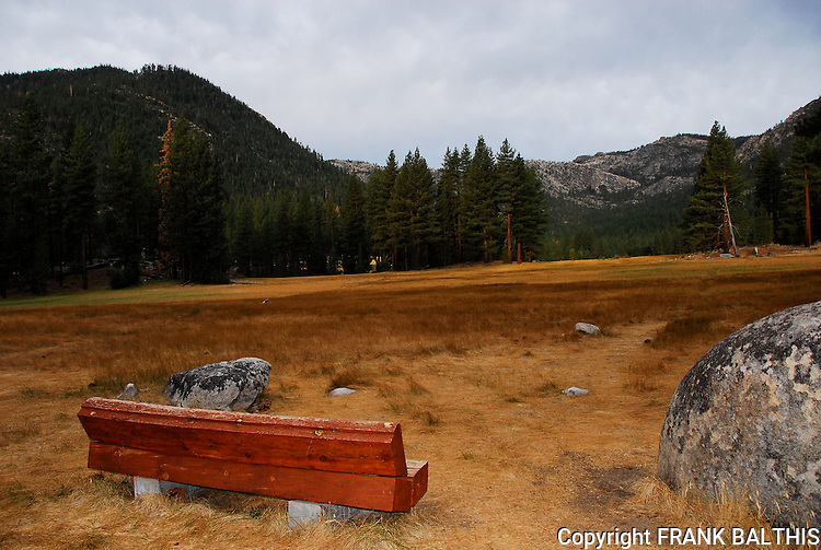 Bench at Grover Hot Springs State Park