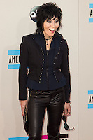 LOS ANGELES, CA - NOVEMBER 24: Joan Jet arriving at the 2013 American Music Awards held at Nokia Theatre L.A. Live on November 24, 2013 in Los Angeles, California. (Photo by Celebrity Monitor)