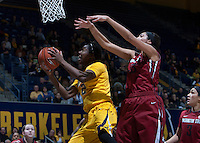 Afure Jemerigbe of California shoots the ball during the game against Washington State at Haas Pavilion in Berkeley, California on February 27th, 2014.   California defeated Washington State, 75-68.