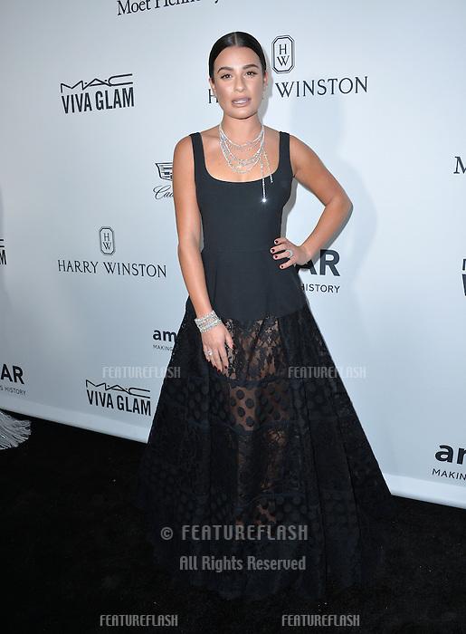 LOS ANGELES, CA. October 27, 2016: Lea Michele at the 2016 amfAR Inspiration Gala at Milk Studios, Los Angeles.<br /> Picture: Paul Smith/Featureflash/SilverHub 0208 004 5359/ 07711 972644 Editors@silverhubmedia.com