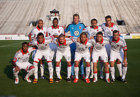 D.C. United lines up before a third round match in the US Open Cup at City Stadium in Richmond, VA.  D.C. United advanced on penalty kicks after tying the Richmond Kickers, 0-0.