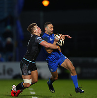 28th February 2020; RDS Arena, Dublin, Leinster, Ireland; Guinness Pro 14 Rugby, Leinster versus Glasgow; Dave Kearney (Leinster) is tackled by Huw Jones (Glasgow Warriors)