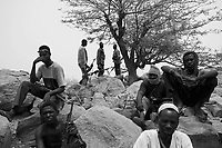 Andjadja, Eastern Tchad, June 2, 2004.Villagers have organized themselves into an militia to defend their land and villages against Djanjavid incursions.