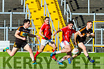 Liam Kearney  East Kerry gets his shot in against Austin Stacks during their SFC clash in Fitzgerald Stadium on Sunday