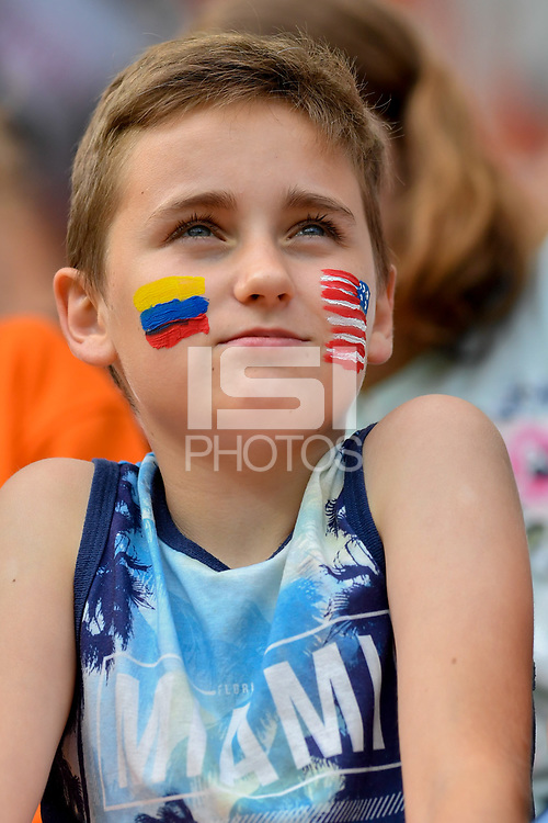 Gdynia, Poland - Saturday June  08, 2019: The U-20 men's national teams of the United States (USA) and Ecuador (ECU) play in a 2019 World Cup quarter-final round game at Stadion Miejski.