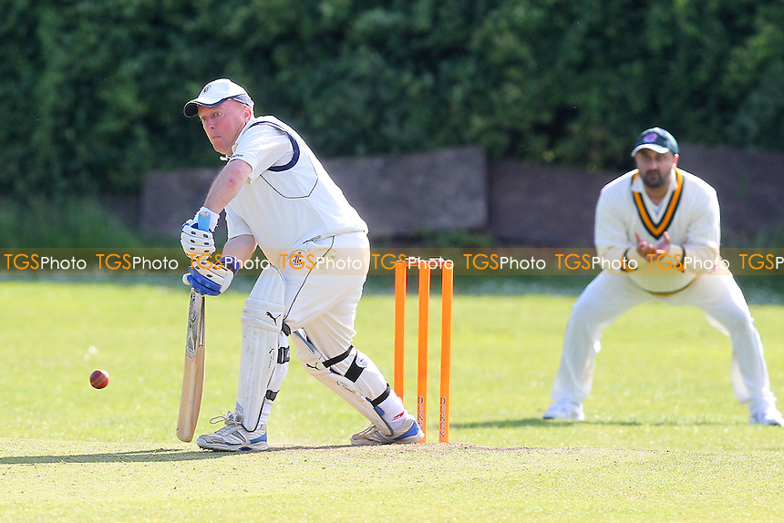 Little in batting action for Noak Hill - Noak Hill Taverners CC vs Ilford Lions CC - Essex County Cricket League at Church Lane - 08/06/13 - MANDATORY CREDIT: Gavin Ellis/TGSPHOTO - Self billing applies where appropriate - 0845 094 6026 - contact@tgsphoto.co.uk - NO UNPAID USE