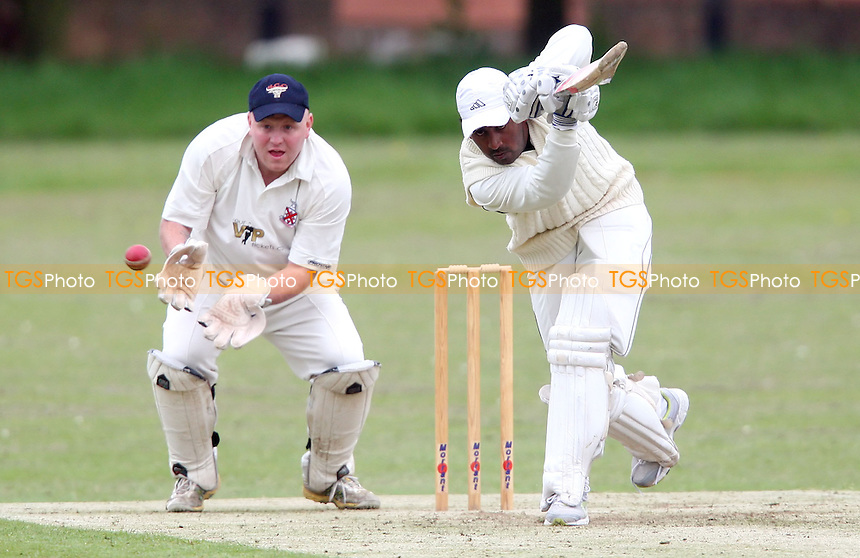 A Samud of Horndon in batting action - Hornchurch CC vs Horndon-on-the-Hill CC, Essex Club Cricket at Hylands Park, Hornchurch - 18/05/13 - MANDATORY CREDIT: Rob Newell/TGSPHOTO - Self billing applies where appropriate - 0845 094 6026 - contact@tgsphoto.co.uk - NO UNPAID USE.