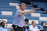 09 November 2015: UNC assistant coach Andrew Calder. The University of North Carolina Tar Heels hosted the University of Mount Olive Trojans at Carmichael Arena in Chapel Hill, North Carolina in a 2015-16 NCAA Women's Basketball exhibition game. UNC won the game 99-45.