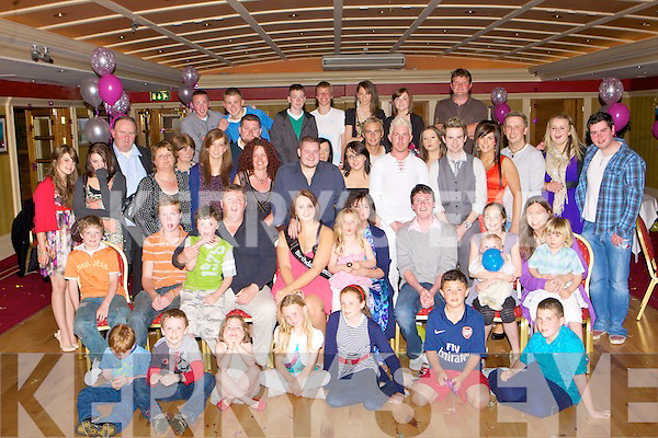 Jamie O'Shea seated centre Fossa who celebrated her 21st birthday with her family and friends in the Killarney Avenue Hotel on Saturday night