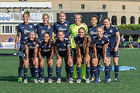 Allston, MA - Sunday July 17, 2016: Sky Blue Starting Eleven prior to a regular season National Women's Soccer League (NWSL) match between the Boston Breakers and Sky Blue FC at Jordan Field.