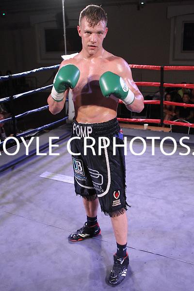 Sam Pomphrey vs Krzysztof Golec-  during a Boxing show at Bath Pavilion, Bath, Avon, promoted by Black Country Boxing Promotion on 18/07/2015 - MANDATORY CREDIT: Chris Royle/TGSPHOTO