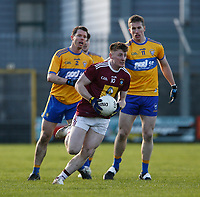 26th January 2020; TEG Cusack Park, Mullingar, Westmeath, Ireland; Allianz Football Division 2 Gaelic Football, Westmeath versus Clare; Anthony McGiveny brings the ball up field for Westmeath