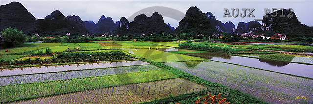 Dr. Xiong, LANDSCAPES, panoramic, photos, Rustiv view, Guilin, China(AUJXP512,#L#)