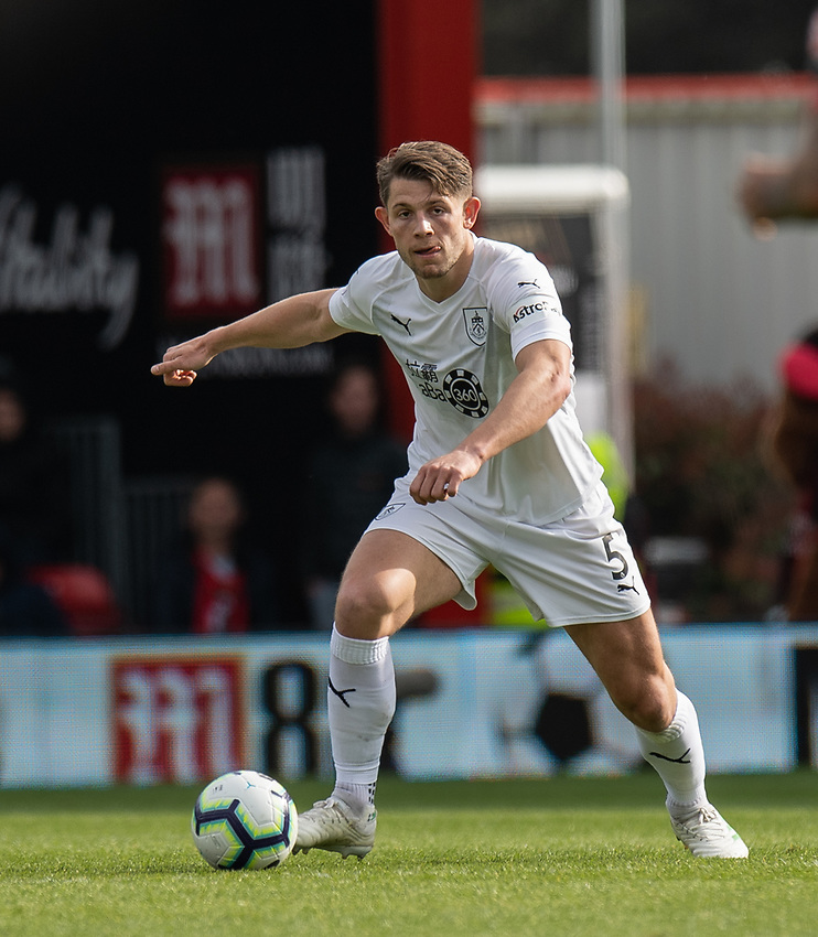 Burnley's James Tarkowski<br /> <br /> Photographer David Horton/CameraSport<br /> <br /> The Premier League - Bournemouth v Burnley - Saturday 6th April 2019 - Vitality Stadium - Bournemouth<br /> <br /> World Copyright © 2019 CameraSport. All rights reserved. 43 Linden Ave. Countesthorpe. Leicester. England. LE8 5PG - Tel: +44 (0) 116 277 4147 - admin@camerasport.com - www.camerasport.com