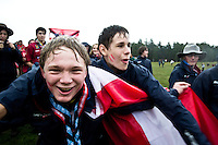 Austrian scouts having a great time at the opening ceremony. Photo: Fredrik Sahlström/Scouterna