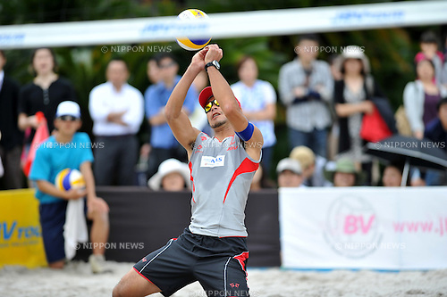 Katsuhiro Shiratori, (JPN), .MAY 4, 2012 - Beach Volleyball : JBV Tour 2012 Sports Club NAS Open at Odaiba Beach, Tokyo, Japan. (Photo by Jun Tsukida/AFLO SPORT) [0003].