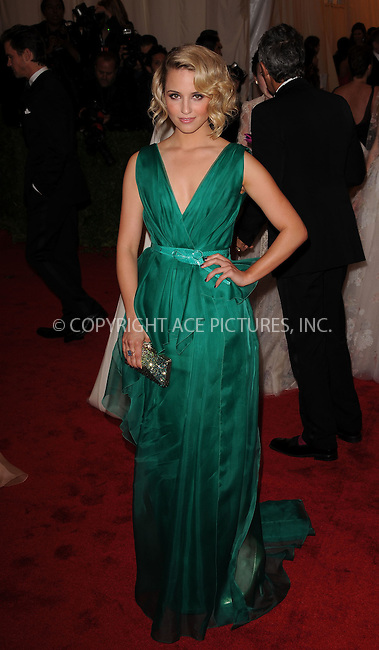 WWW.ACEPIXS.COM . . . . . ....May 7 2012, New York City....Dianna Agron arriving at the 'Schiaparelli And Prada: Impossible Conversations' Costume Institute Gala at the Metropolitan Museum of Art on May 7, 2012 in New York City.....Please byline: KRISTIN CALLAHAN - ACEPIXS.COM.. . . . . . ..Ace Pictures, Inc:  ..(212) 243-8787 or (646) 679 0430..e-mail: picturedesk@acepixs.com..web: http://www.acepixs.com