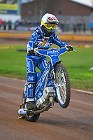 Michael Palm Toft of King's Lynn Stars during Poole Pirates vs King's Lynn Stars, SGB Premiership Shield Speedway at The Stadium on 11th April 2019