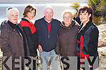 Pictured at the official opening of the Fossa Rowing Club boat house on Saturday were Siobhan Coffey, Julie Talbot, Mick Myers, Betty Coffey and Norma Talbot. ....