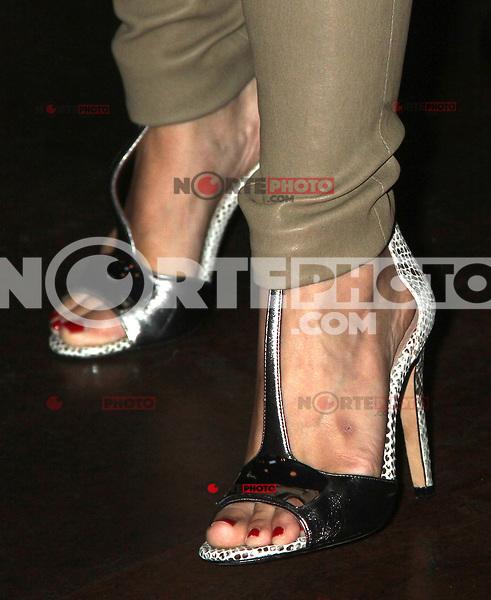 NEW YORK CITY,NY - July 25, 2012: Close up of Kristen Bell's shoes at the GenArt Screening Series featuring the film, 'Hit & Run' at Tribeca Cinemas in New York City. © RW/MediaPunch Inc.. /NortePhoto.com<br /> <br /> **SOLO*VENTA*EN*MEXICO**<br />  **CREDITO*OBLIGATORIO** *No*Venta*A*Terceros*<br /> *No*Sale*So*third* ***No*Se*Permite*Hacer Archivo***No*Sale*So*third*©Imagenes*con derechos*de*autor©todos*reservados*.