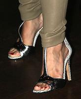 NEW YORK CITY,NY - July 25, 2012: Close up of Kristen Bell's shoes at the GenArt Screening Series featuring the film, 'Hit &amp; Run' at Tribeca Cinemas in New York City. &copy; RW/MediaPunch Inc.. /NortePhoto.com<br /> <br /> **SOLO*VENTA*EN*MEXICO**<br />  **CREDITO*OBLIGATORIO** *No*Venta*A*Terceros*<br /> *No*Sale*So*third* ***No*Se*Permite*Hacer Archivo***No*Sale*So*third*&Acirc;&copy;Imagenes*con derechos*de*autor&Acirc;&copy;todos*reservados*.