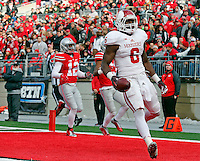 Indiana Hoosiers running back Tevin Coleman (6) scores a touchdown in the third quarter of their game at Ohio Stadium in Columbus, Ohio on November 22, 2014. (Columbus Dispatch photo by Brooke LaValley)