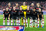 Players of Bayer 04 Leverkusen line up and pose for a photo prior to the 2016-17 UEFA Champions League Round of 16 second leg match between Atletico de Madrid and Bayer 04 Leverkusen at the Estadio Vicente Calderon on 15 March 2017 in Madrid, Spain. Photo by Diego Gonzalez Souto / Power Sport Images