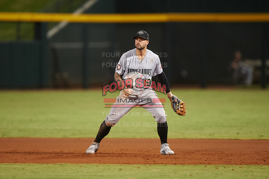 Peoria Javelinas first baseman J.J. Matijevic (10), of the Houston Astros organization, during an Arizona Fall League game against the Mesa Solar Sox on September 21, 2019 at Sloan Park in Mesa, Arizona. Mesa defeated Peoria 4-1. (Zachary Lucy/Four Seam Images)
