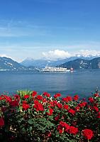 Schweiz, Kanton Luzern, Weggis: Seerundfahrt mit einem Ausflugsschiff | Switzerland, Canton Lucerne, Weggis: round trip with motor vessel