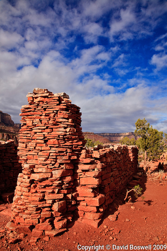 A ruined cookhouse stands testament to the mining history of Horseshoe Mesa, Grand Canyon National Park, where the Last Chance Mine operated in the 1890's and early 1900's.