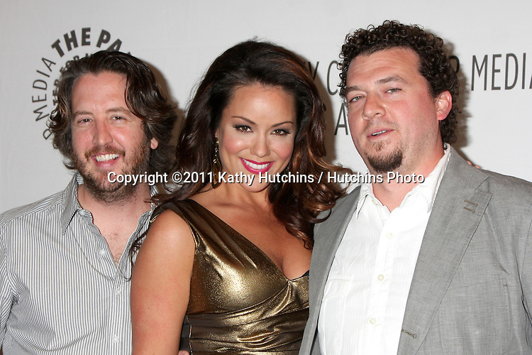 "LOS ANGELES - MAR 10:  Steve Little, Katy Mixon, Danny McBride arriving at the ""Eastbound & Down "" PaleyFest 2011 at Saban Theatre on March 10, 2011 in Beverly Hills, CA"