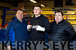 """Donie Jack Griffin, Tralee Boxing Club, Kevin Cronin, """"The Kingdom Warrior"""" from Milltown and Patrick O'Brien, Cashen Vale Boxing Club"""