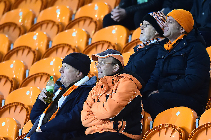 Blackpool fans look on<br /> <br /> Photographer Richard Martin-Roberts/CameraSport<br /> <br /> The EFL Sky Bet League Two - Blackpool v Crawley Town - Tuesday 7th February 2017 - Bloomfield Road - Blackpool<br /> <br /> World Copyright &copy; 2017 CameraSport. All rights reserved. 43 Linden Ave. Countesthorpe. Leicester. England. LE8 5PG - Tel: +44 (0) 116 277 4147 - admin@camerasport.com - www.camerasport.com