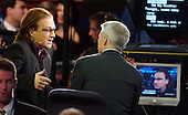 Boston, MA - July 27, 2004 -- Bono of the rock group U2 is interviewed by CNN's Anderson Cooper at the 2004 Democratic National Convention in Boston, Massachusetts on July 27, 2004..Credit: Ron Sachs / CNP