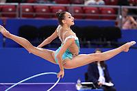September 11, 2018 - Sofia, Bulgaria - EVITA GRISKENAS of USA performs at 2018 World Championships.