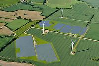 Solarfarm: EUROPA, DEUTSCHLAND, SCHLESWIG- HOLSTEIN, (GERMANY), 21.06.2010: Solarfarm bei Groemitz, Soehlen, Rueting Cismarfelde, Alternative, anlage, DEU, Deutschland,  EEG,  Energie, Energieerzeugung, Energiegewinnung, Energiewirt, energy,  erneuerbare, EUROPA, europe, farm,  GER, GERMANY, Klimaschutz, PHOTOVOLTAIC, photovoltaik, Pictures, power,  regenerative, SCHLESWIG-HOLSTEIN, SOLAR, Solardach, Solarenergie, Sonnenenergie, Strom, Strom-, Windkraftanlagen, WINDPOWER, Luftansicht, Luftaufnahme, Vogelperspektive, Luftbild, Luftfotografie ..c o p y r i g h t : A U F W I N D - L U F T B I L D E R . de.G e r t r u d - B a e u m e r - S t i e g 1 0 2, 2 1 0 3 5 H a m b u r g , G e r m a n y P h o n e + 4 9 (0) 1 7 1 - 6 8 6 6 0 6 9 E m a i l H w e i 1 @ a o l . c o m w w w . a u f w i n d - l u f t b i l d e r . d e.K o n t o : P o s t b a n k H a m b u r g .B l z : 2 0 0 1 0 0 2 0  K o n t o : 5 8 3 6 5 7 2 0 9. V e r o e f f e n t l i c h u n g n u r m i t H o n o r a r n a c h M F M, N a m e n s n e n n u n g u n d B e l e g e x e m p l a r !.