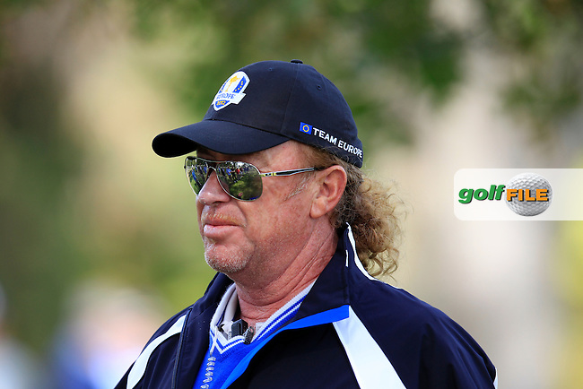 European Team Vice Captain Miguel Angel Jimenez (ESP) on the 6th hole during Wednesday's Practice Day of the 39th Ryder Cup at Medinah Country Club, Chicago, Illinois 26th September 2012 (Photo Eoin Clarke/www.golffile.ie)