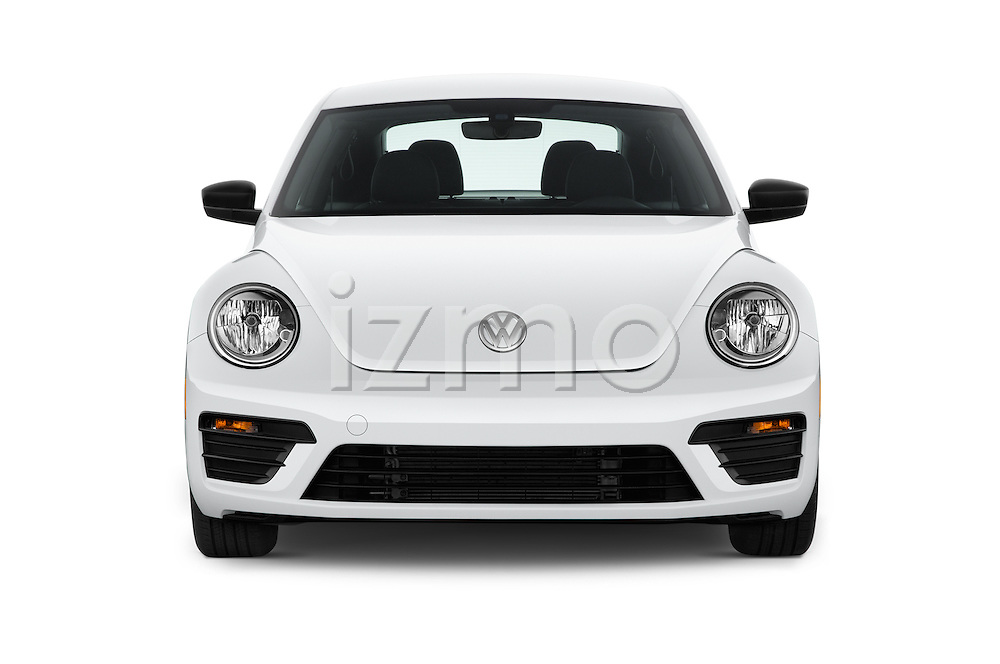 Car photography straight front view of a 2017 Volkswagen Beetle S 3 Door Hatchback Front View